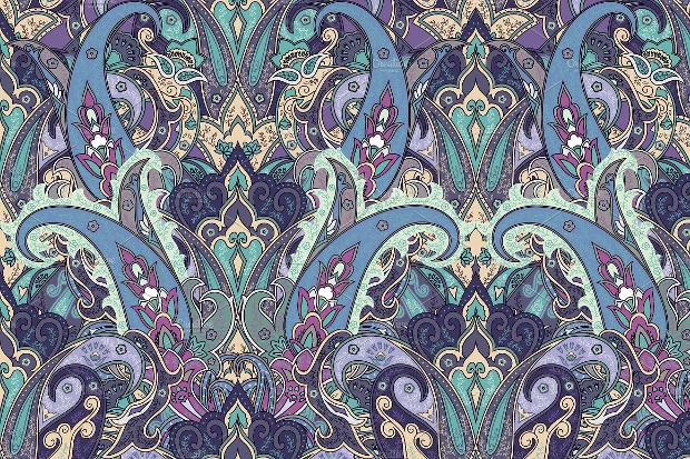 fantasy paisley pattern