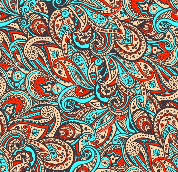 traditional paisley pattern