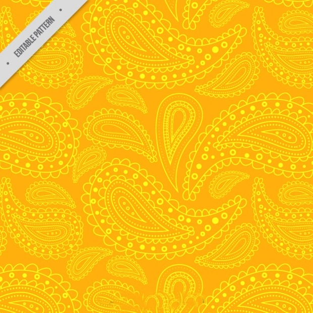 yellow paisley pattern design