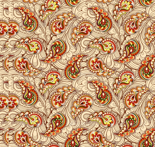 autumn paisley pattern