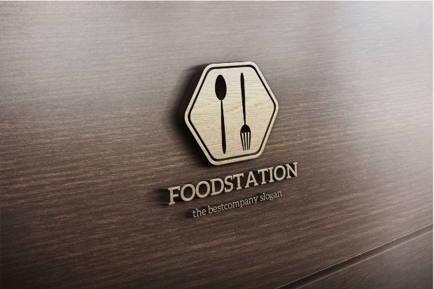 Food Station Logo Design