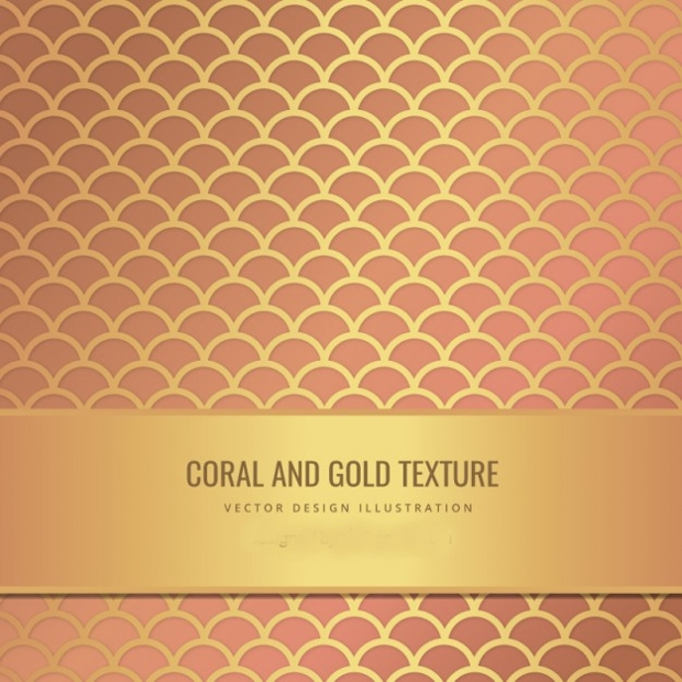 coral and gold texture