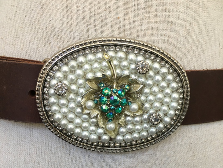 Rhinestone Belt Buckle Idea