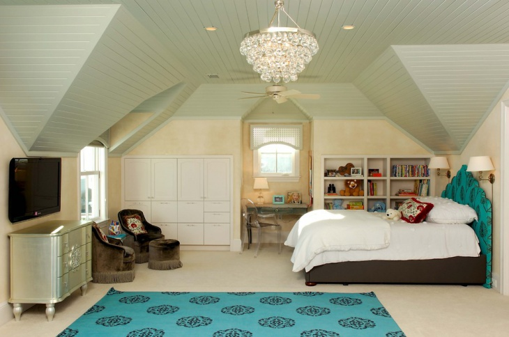 kids bedroom with chandelier