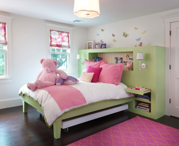 kids bedroom bedside lighting idea