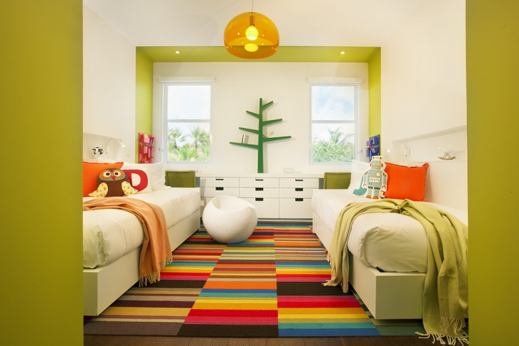 transitional kids bedroom lighting