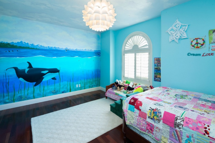 sea style kids bedroom chandelier