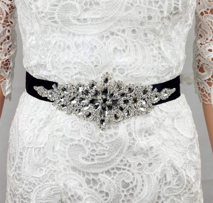 Bridal Wedding Rhinestone Sash Belt