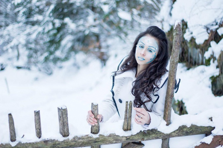 Snowy Makeup Idea