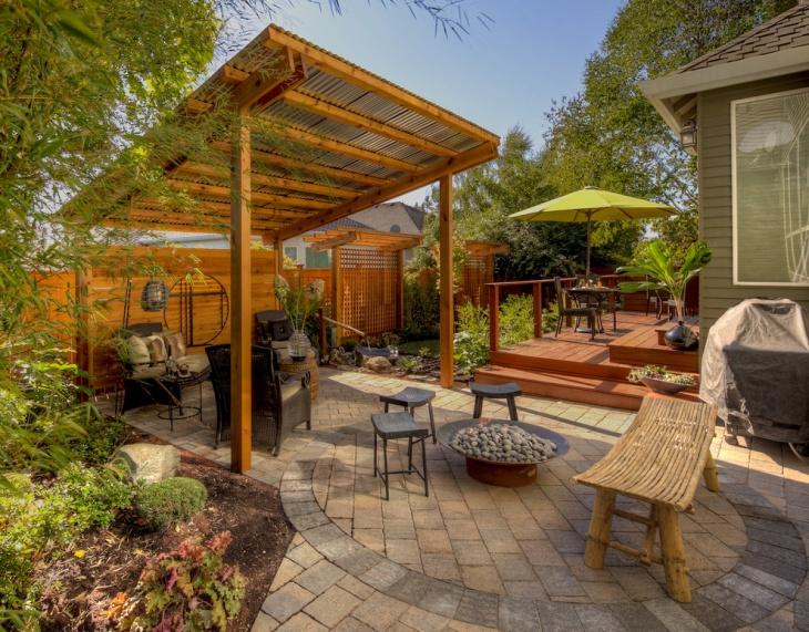 metal patio roof design