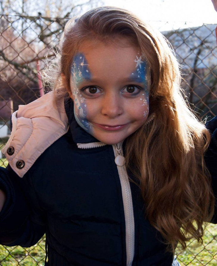 Cute Winter Makeup for Kid