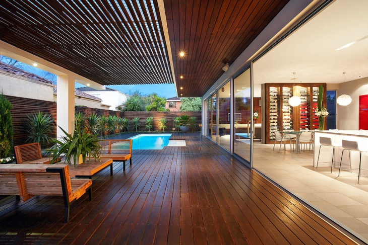 Wood Deck Roof Design