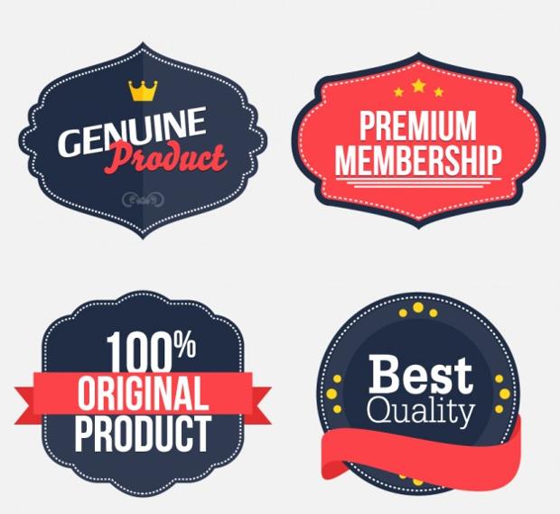 retro business stickers