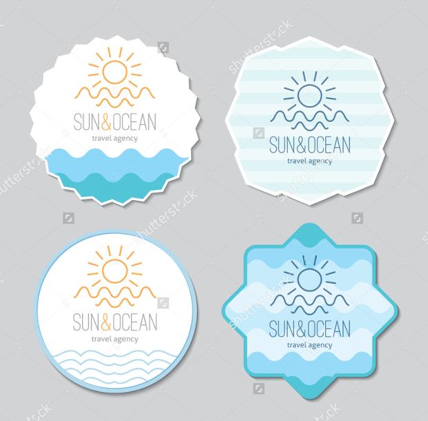 blank round sticker designs