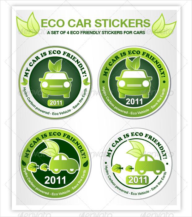 eco car sticker designs