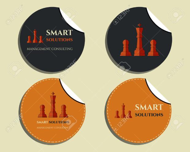 company round sticker designs