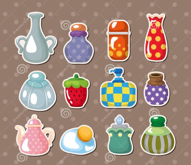 cololrful bottle sticker designs