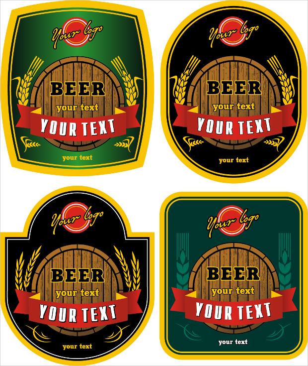 beer bottle stickers