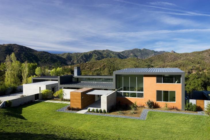 flat roof cottage design