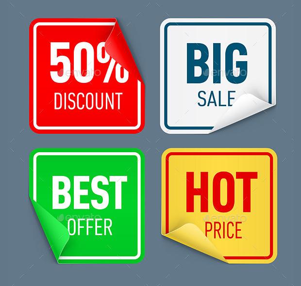 sale paper sticker designs
