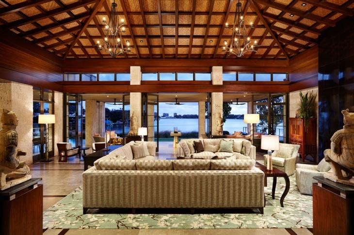 High Roof Living Room Design