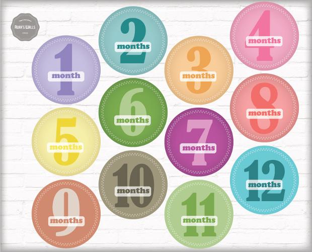 monthly birthday stickers