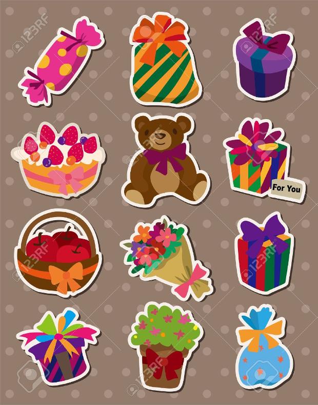 birthday gift stickers