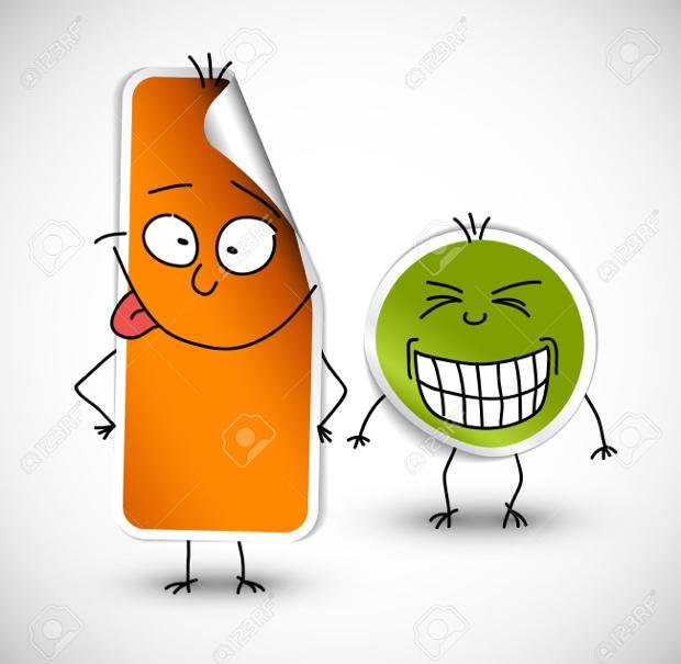 funny smile sticker designs