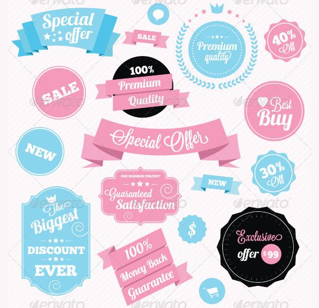 fashion shop sticker designs