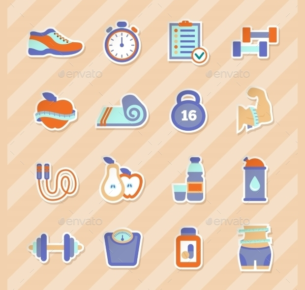 Health Fitness Stickers