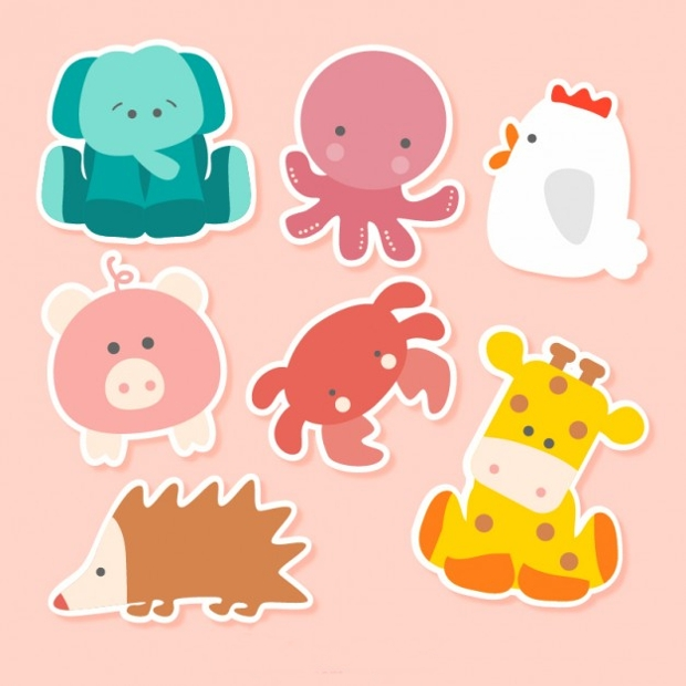 Colorful Animal Stickers