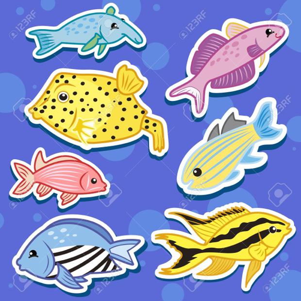 sea animal sticker designs