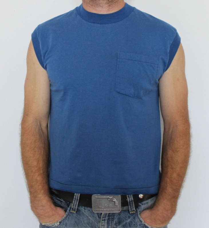 Men's Sleeveless T Shirt with Pocket