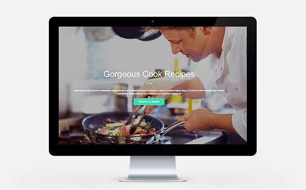 food page web template