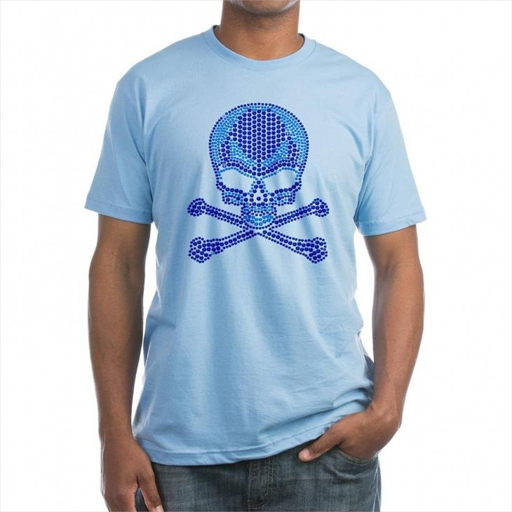 Mens Skull Rhinestone T Shirt Design