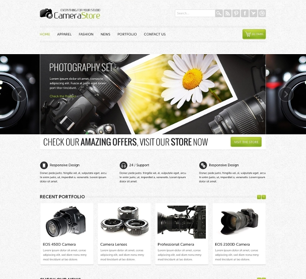 product ecommerce website template