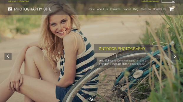 simple photography website template