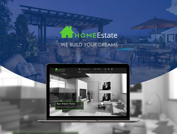 real estate home web template