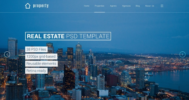 real estate property psd template
