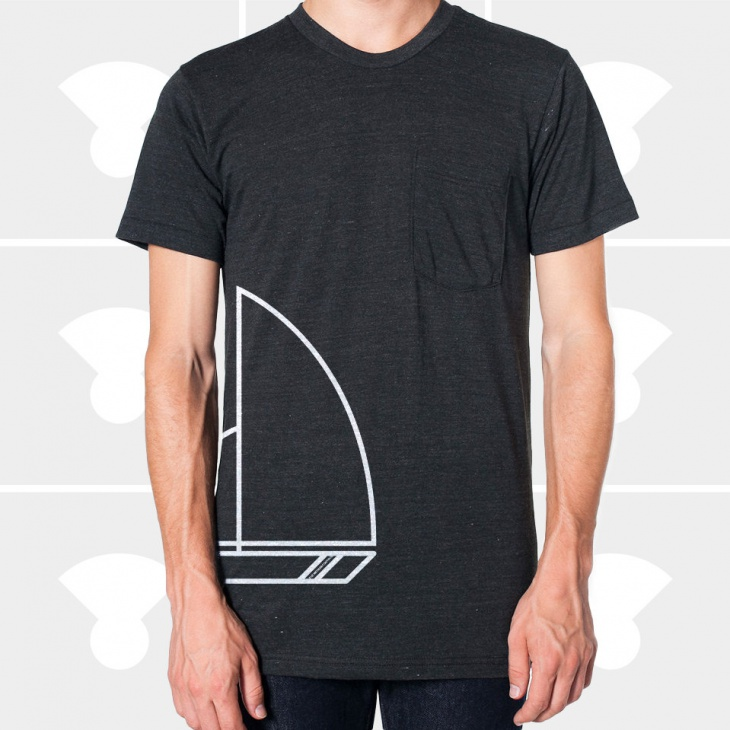 Mens Black Pocket T Shirt Design