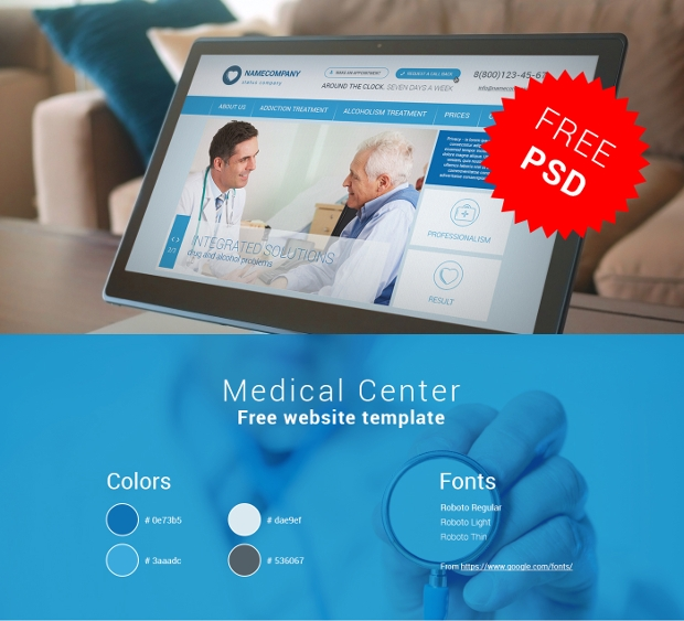 medical centre website template