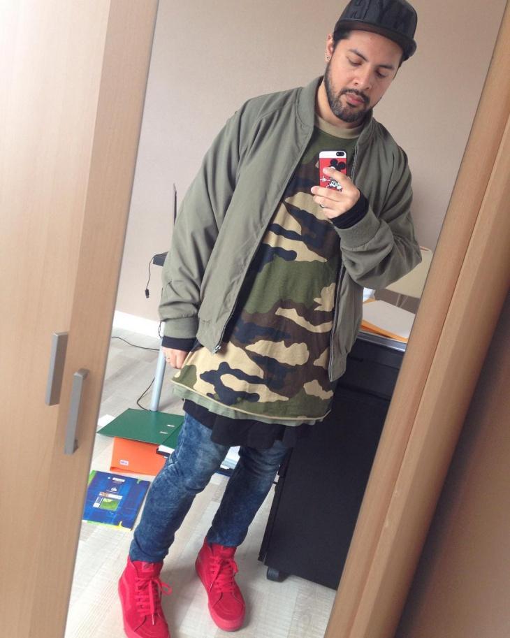 Mens Green Camo T Shirt