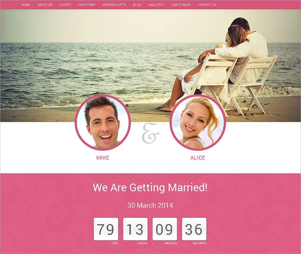 beautiful wedding website template1