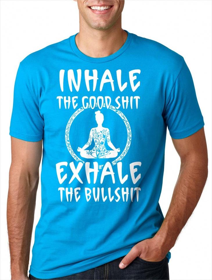 Mens Funny Yoga T Shirt