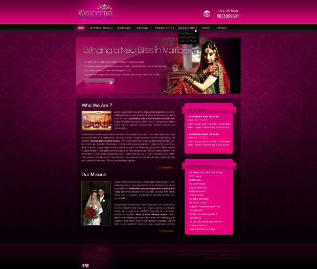 wedding event web template