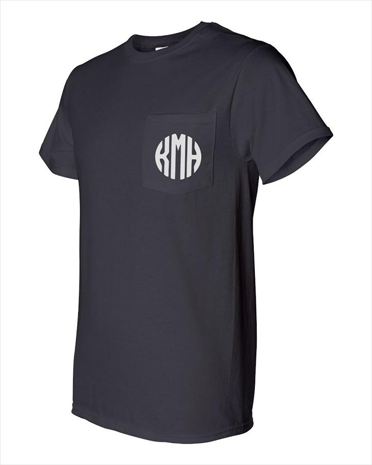 Mens Monogram Pocket t Shirt Design