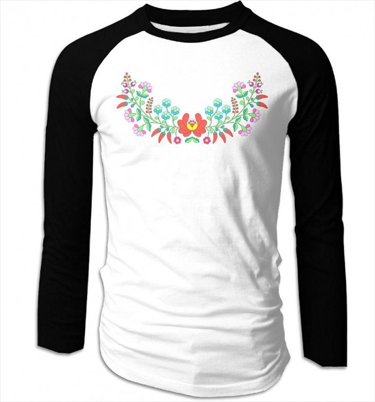 Vintage Embroidered T Shirt for Men