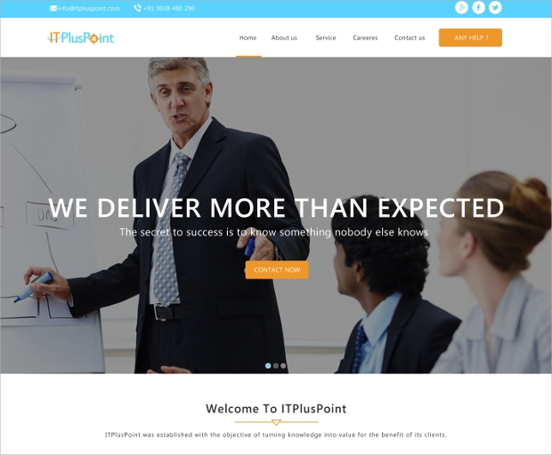 creative corporate website template