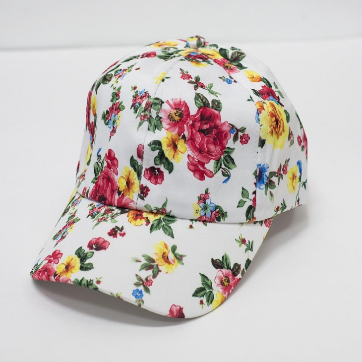Mens Floral Baseball Hat Design