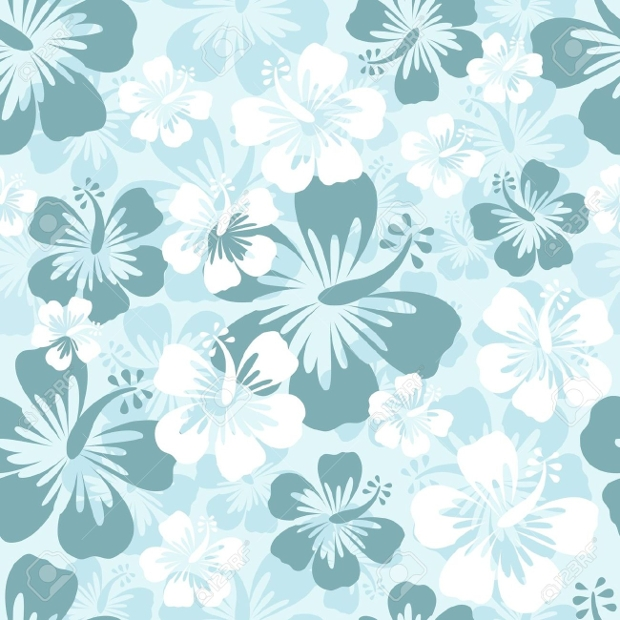 hawaiian flower pattern